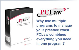 PC Law, accounting, time billing, practice management